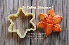 That's a Nice Cookie Cutter:  Lily cookie cutter.  Design and cookie by Clough D9 Cookies & Sweets.   Awesome!