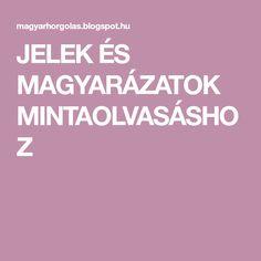 JELEK ÉS MAGYARÁZATOK MINTAOLVASÁSHOZ