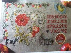 Lot 8 Fantastic French Cross Stitch Charts from Magazines Samplers Flowers Deer | eBay