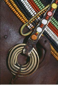 Africa   Details of a neckpiece worn by a Rendille.  Kenya.   ©Dos & Bertie Winkel