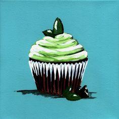 chocolate mint cupcake print
