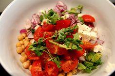 Overheerlijke kikkererwten salade.