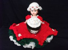 Holly Day Christmas Air Freshener Doll by PeggysPatch on Etsy, $15.00