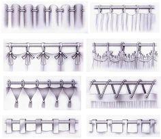 Décoration intérieure / Rideaux curtains / têtes accroches / Anneaux œillets / attaches