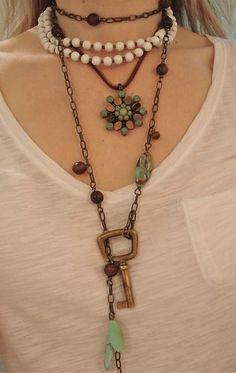 key to my heart... I like the key necklace.. very bohemian