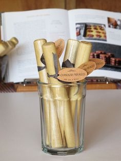 """Chanukah Miracles are on a Roll"" Rolling Pin Favors 
