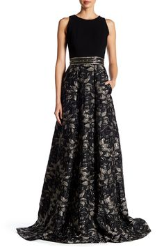 Embellished Printed Gown by Carmen Marc Valvo on @HauteLook