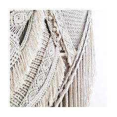 "Large macrame wallhanging Kristy (@_family_ties) on Instagram: ""Some more of her details..."""
