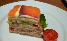 Tarta salada vegetal con pan de molde - Especial día del padre