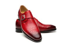 Valentine red patina single monkstrap is waiting to kick your outfit to the next level