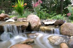 Rain and snow are going to play a huge part in your yard landscaping decisions. For example you will have to plan for your yard landscaping with care. These yard lan Landscape Services, Landscape Plans, Landscape Designs, Pond Fountains, Living Water, Landscaping Plants, Beautiful Landscapes, Shrubs, Perennials
