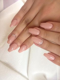 Salmon gel Nails- Lachs gel Nagel unghie in gel Salmon - # beautycosmetic Blush Pink Nails, Beige Nails, Pink Acrylic Nails, Dark Nude Nails, Gem Nails, Diamond Nails, Nails With Diamonds, Jewel Nails, Cute Nails