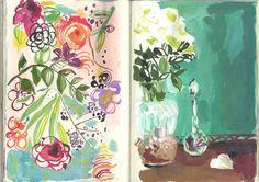 flowers botanical illustration art schetchbook blossoms notebook 2.3&4 by August Wren