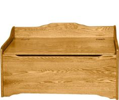 Deluxe style toy box..crafted in the heart of Ohio's Amish Country.