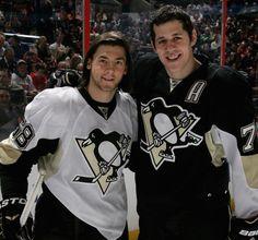 Letang & Malkin! Amazing hockey players! #58 & #71 Pittsburgh Penguins <3 let's go pens