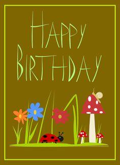 MeinLilaPark – DIY printables and downloads: free printable Happy Birthday cards – free Happy B...
