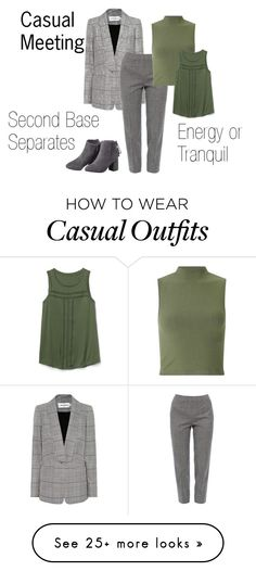 """""""Casual Meeting"""" by expressingyourtruth on Polyvore featuring self-portrait, Piazza Sempione, Miss Selfridge and Gap"""