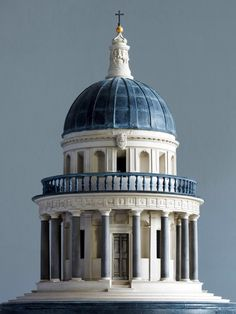 18 inch architectural miniature of the Renaissance-era Templetto tomb in Rome