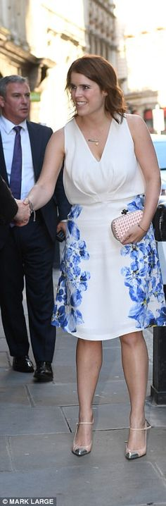 Eugenie in October 2016, around the time she started slimming down...