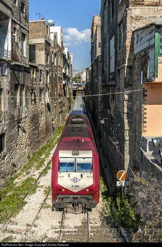 Net Photo: OSE Hellenic Railways Organization AD Tranz at Athens, Greece by Kostas Kakavas Train Tracks, Train Rides, Rail Transport, Public Transport, Greek History, Train Pictures, Night Train, Electric Train, Old Trains