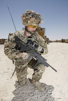 British Signaller with Manpack Radio Equipment in Afghanistan