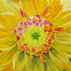Small Original Oil Painting Flower  Yellow by APaintedCanvas, $200.00