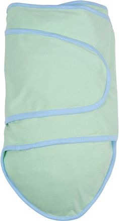 Miracle Blanket Green With Blue Trim