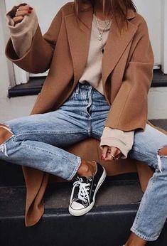 British Style Fashion Large Lapel Pocket Long-Sleeved Coats Aliastop coats peacoats coats and jackets coats white sneakers coats cute coats casual Elegantes Business Outfit, Outfit Elegantes, Mode Outfits, Casual Outfits, Fashion Outfits, Womens Fashion, Fashion Trends, Fashion Ideas, Classy Outfits