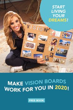 How to make a vision board work for you. Dream big and achieve your goals. I will show you how to create a vision board, success tips to go after your dreams and goals and how to manifest your dreams and goals. Get your free Vision Board book today! Vision Boarding, Creating A Vision Board, Board Book, How To Manifest, Youth Ministry, Board Ideas, Self Improvement, Live For Yourself, Free Books