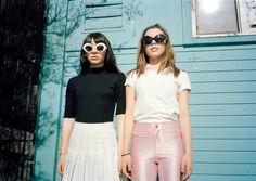 The Crap Eyewear Guest Lens photo series | Shot by: Daria Kobayashi Ritch | Models: Hannah Marks & Morgan Quinn | Styled by: Marley Arviso