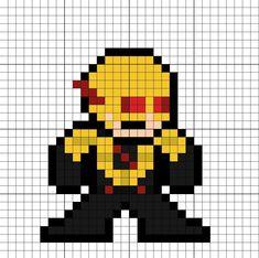 Reverse Flash Eobard Thawne Perler Bead Pattern