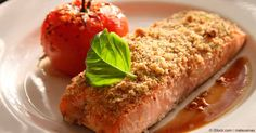 panini almond crusted salmon with leek and lemon cream almond crusted ...