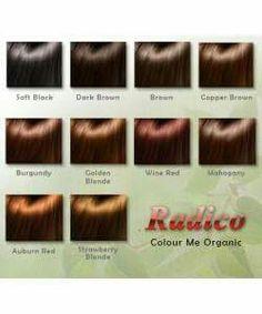 Radico Colour Me Organic kasvivärit Organic Hair Color, Auburn Red, Preppy Girl, Strawberry Blonde, Shampoo, Colour, Color, Colors, Strawberry Blond Hair