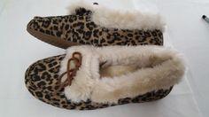 ☮ VIONIC ☮ Women's Tan Leopard Cozy Juniper Slippers - Size 10 Orthaheel - http://shoes.goshoppins.com/womens-slippers/%e2%98%ae-vionic-%e2%98%ae-womens-tan-leopard-cozy-juniper-slippers-size-10-orthaheel/