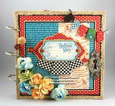 "Scrapbook Centrale: Petit album ""Mother Goose"" de Graphic45 * Graphic45's Mother Goose Mini Album"