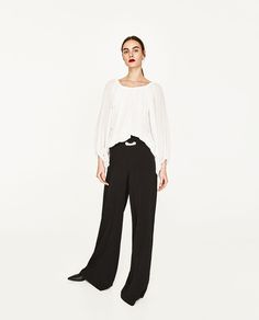 FLOWING ROUND NECK BLOUSE-Blouses-TOPS-WOMAN | ZARA United States