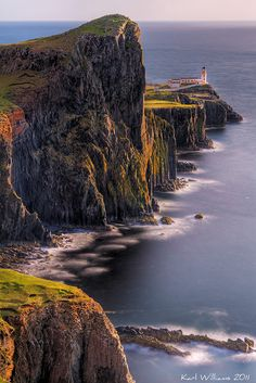 The Neist Point, Scotland -  (follow this pic for more Spectacular Places)