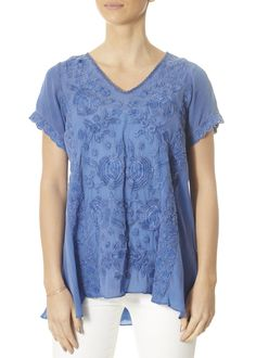 This is the 'Erin' Faded Indigo Blouse by stunning brand Caite. Feel flawless in this bohemian inspired blouse. Featuring a stunning embroidered print, an asymmetric cut, and an extra cozy feel. SHOP NOW! Odd Molly, Blue Blouse, Indigo, Women's Tops, Shop Now, Fashion Ideas, Tunic Tops, London, Clothing