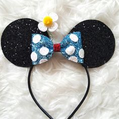 Classic Minnie Mouse Ears Headband Minnie Mouse Birthday Minnie Mouse... ($29) ❤ liked on Polyvore featuring accessories, hair accessories, disney, ears, barrettes & clips, grey, hair band headband, hair clip accessories, barrette hair clips and sparkly hair accessories