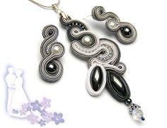 Sutasz-Anka: White Snowfall - necklace+earrings