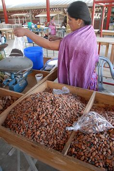Cacao In The Market Oaxaca-Mexico