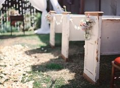 church pew outdoor wedding - Bing Images