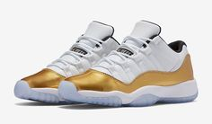 The Air Jordan 11 Low Metallic Gold Is Releasing Later This Summer