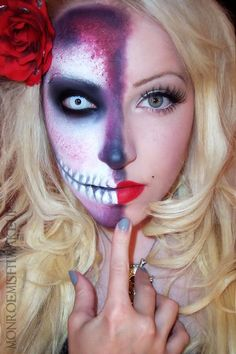Check out these unique Halloween makeup ideas instead.Makeup Looks To Try This Halloween. Best Halloween Makeup Tips Tutorials. Halloween Makeup Sugar Skull, Sugar Skull Makeup, Halloween Makeup Looks, Halloween Skull, Pretty Halloween, Halloween Pumpkins, Butterfly Halloween, Halloween Diy, Halloween Costumes