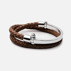 Shop modern men's accessories from braided leather bracelets and Screw Cuffs to Saint Necklaces and Signet Rings. Black Gold Jewelry, Copper Jewelry, Leather Jewelry, Men's Jewelry, Men's Leather, Mens Silver Rings, Sterling Silver Bracelets, Bracelets For Men, Bangle Bracelets