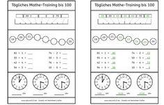 Tägliches Mathe-Training bis 100, Mathe, Übung, kostenlos, Arbeitsblatt, Dyskalkulie, Kinder, Eltern, Schule, Unterricht, dyscalculia, works...
