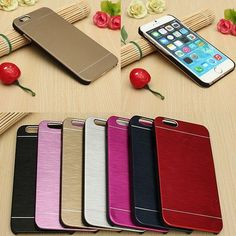 Brushed Metal Aluminum Chrome Hard Back Case For iPhone 6 Plus. Brushed Metal Aluminum Chrome Hard Back Case For iPhone 6 Plus      Description:  Compatible with: iPhone 6 Plus 5.5''  Material:Metal Brushed  Color:Gold,Pink red,Red,Pink,Navy blue,Sliver,Black  Easy to install and remove.      Features:  Provides excellent protection from scratches and bumps.  Stylish metal brushed cover designed to fit your phone.  Ultra slim and light weight.  Precise openings on the protector case to allow…