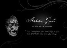 Quotes Gandhi Typographic Portrait Typography #quotes #wallpapers #backgrounds