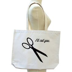 I'll Cut You Tote Black, $23, now featured on Fab.