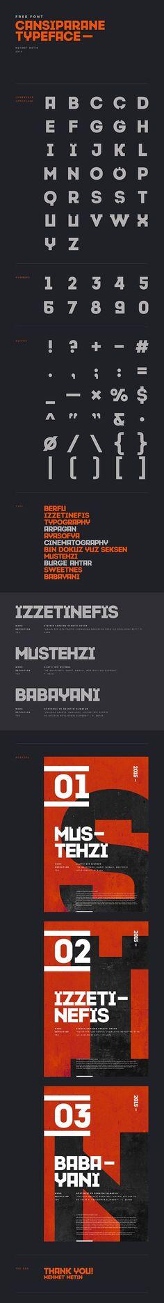 Cansiparane free typeface by Mehmet Metin #free #typeface